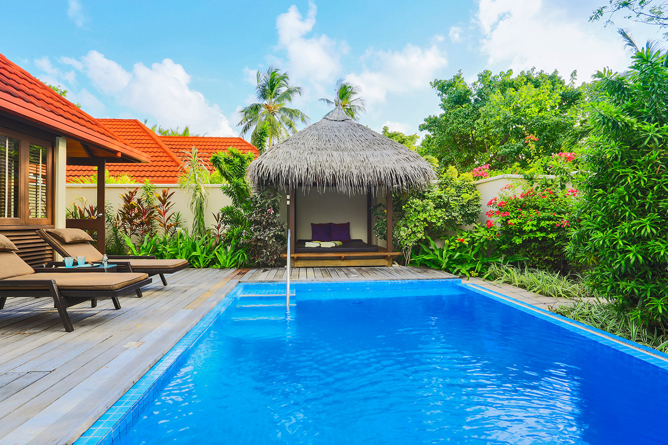Kurumba Maldives - Royal Residence One of Two Pools Image - Maldives Resorts Pool Villa