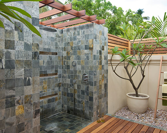 Family Villa Outdoor Shower