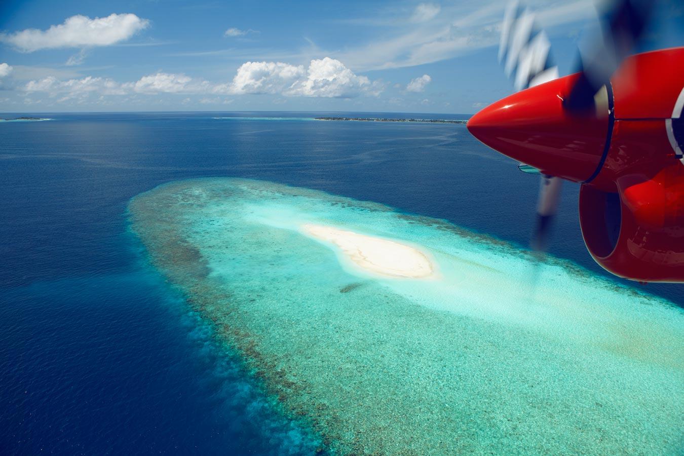Maldives Island Excursions | Seaplane Photo Flight Image | Kurumba Maldives