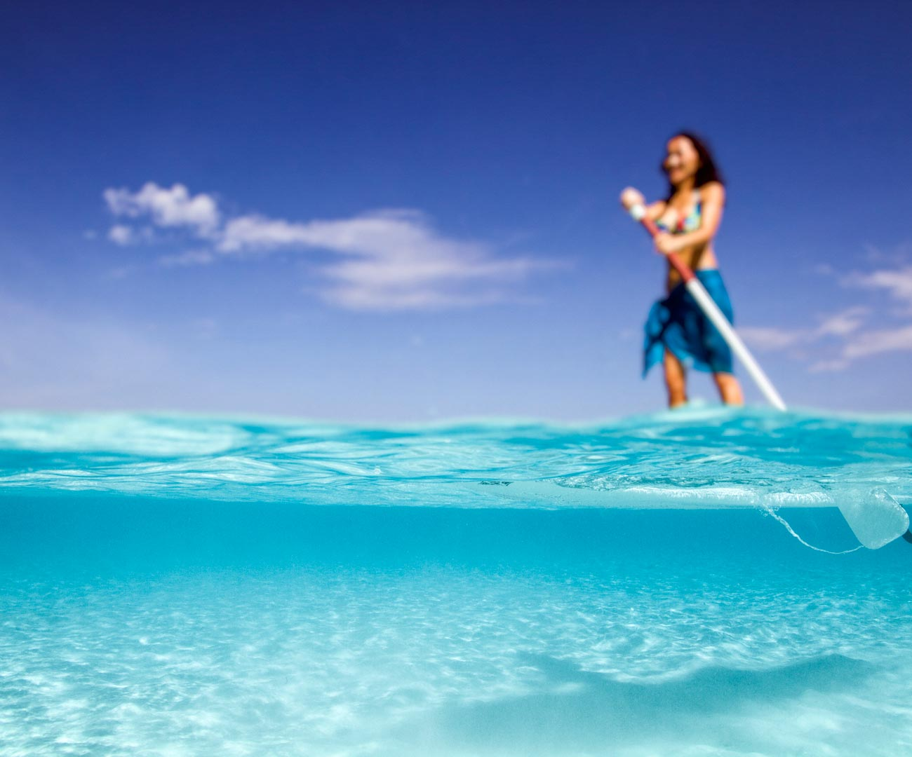 Stand Up Paddle Boarding in the Maldives Image | Kurumba Maldives Watersports