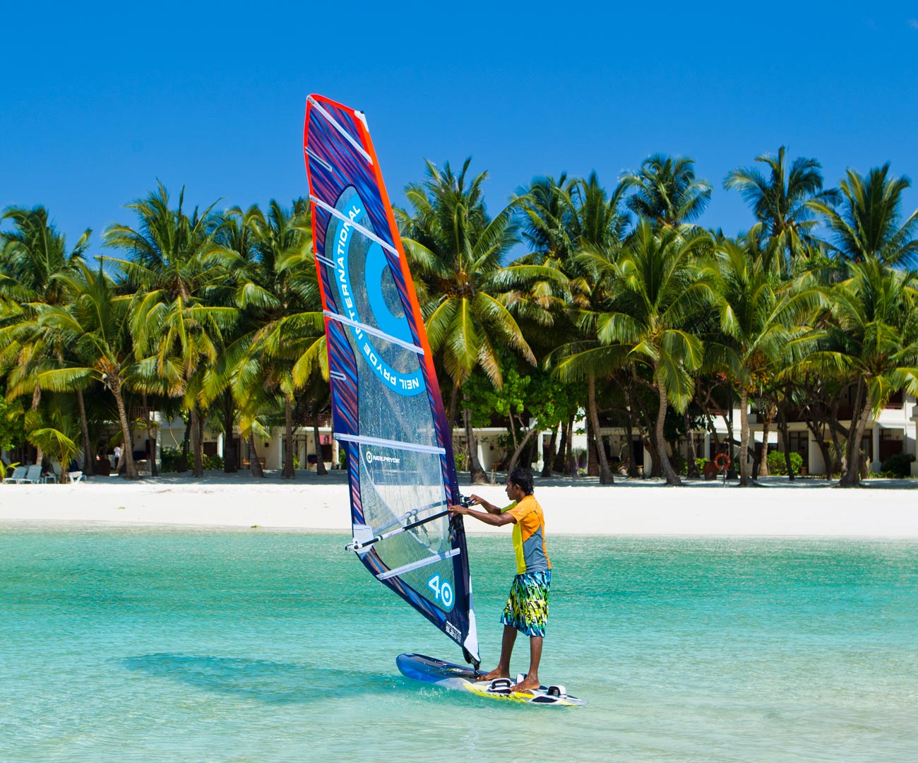 Wind Surfing in the Maldives Image | Kurumba Maldives Watersports