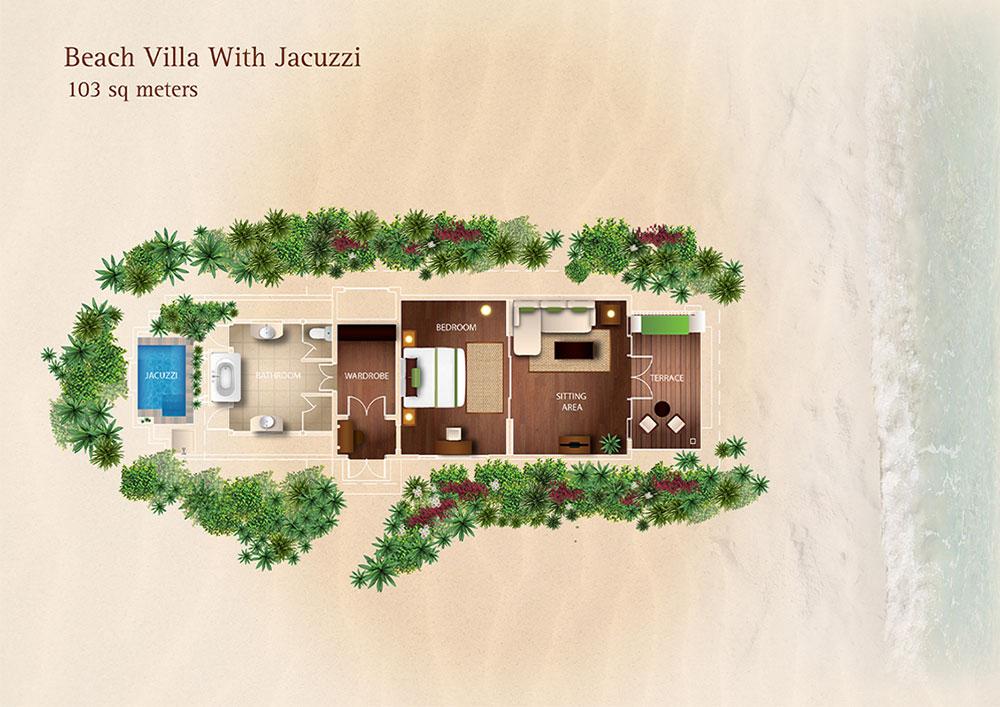 Beach villa maldives kurumba maldives jacuzzi beach villa for Beach villa plans